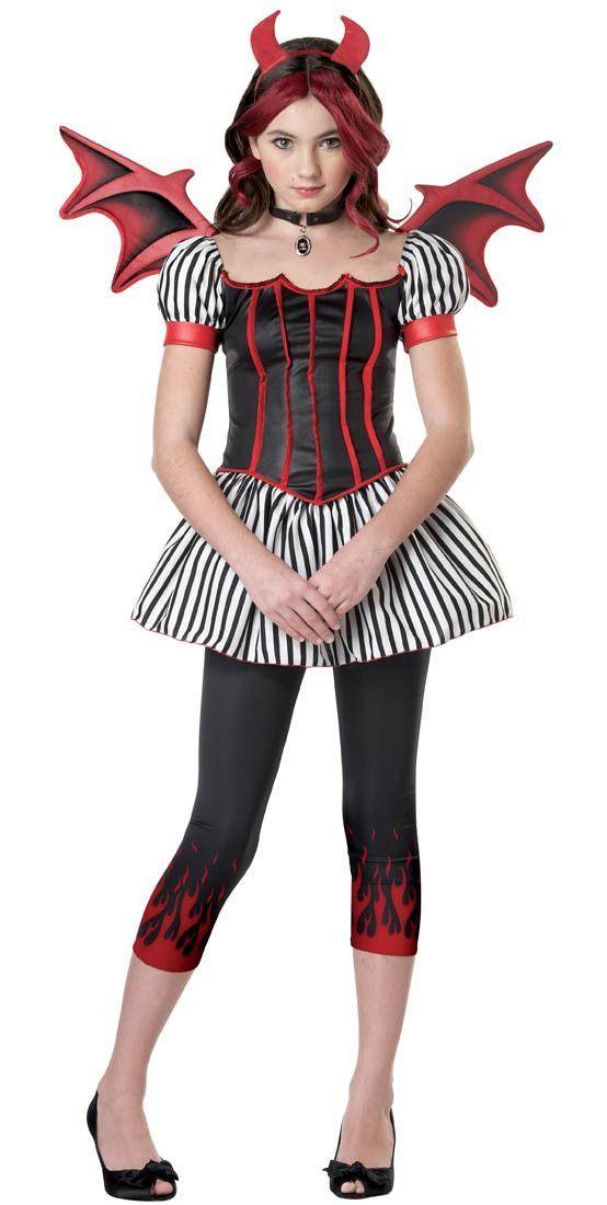 Devil Girlu0027s Costume  sc 1 st  Pinterest & Devil Girlu0027s Costume | Tween 2 Teen Fancy Dress Costumes | Pinterest ...