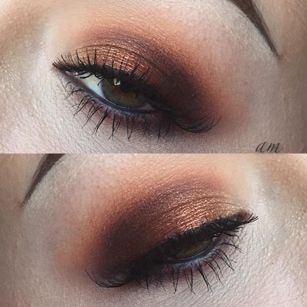 'Fiery' look by MyStressMakeup using Makeup Geek's foiled