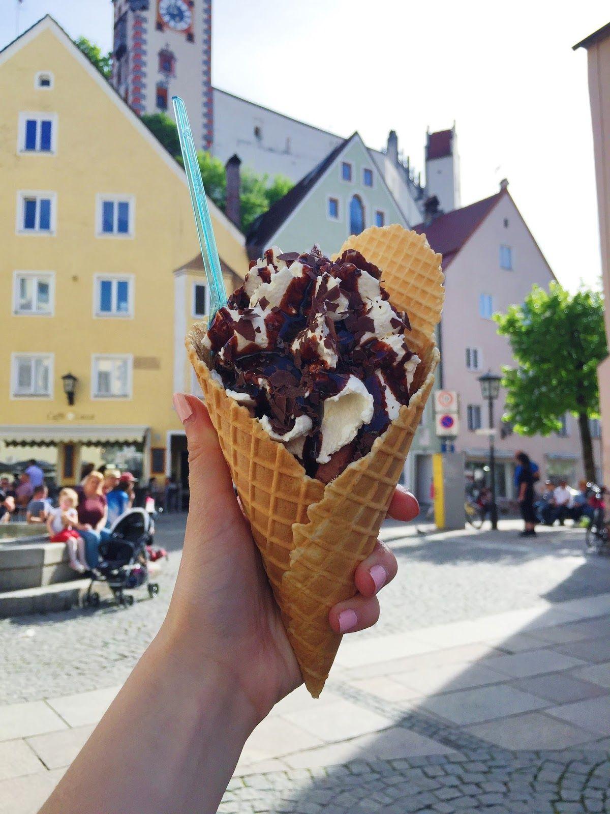 Ice cream in Füssen, Germany