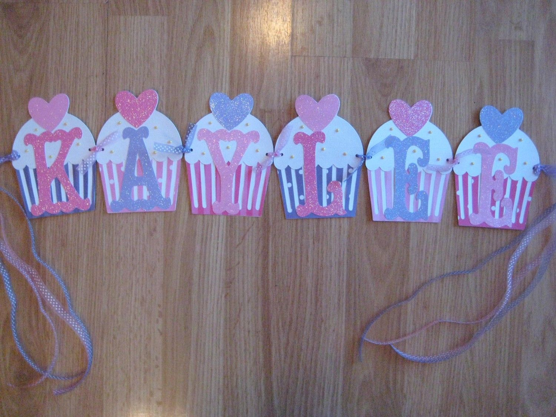 cupcake birthday banner birthday ideas in 2018 pinterest