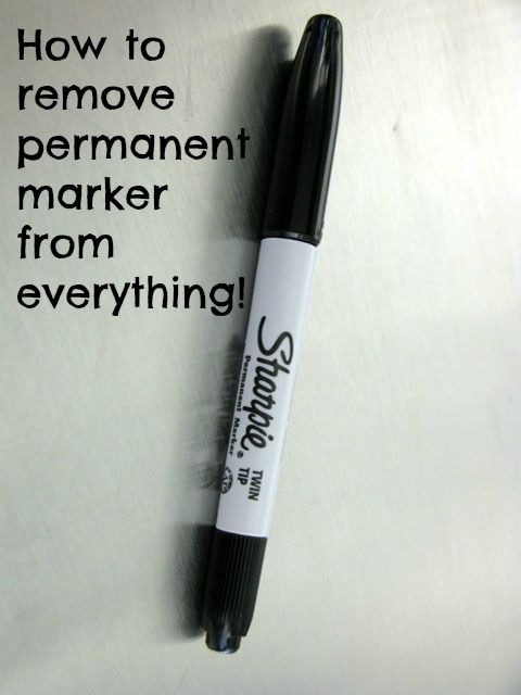 How To Remove Permanent Marker From Everything Cleaning Hacks