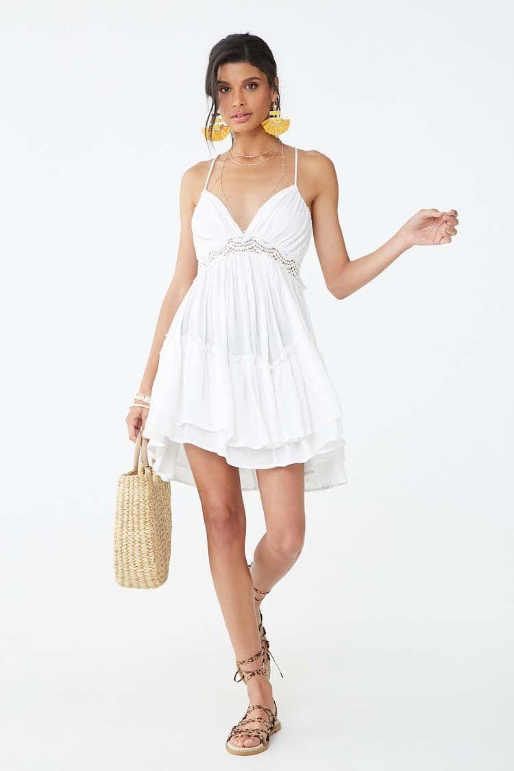 f00a75e6e Crochet-Trim Tassel Halter Dress | Forever 21 | What to Wear for ...