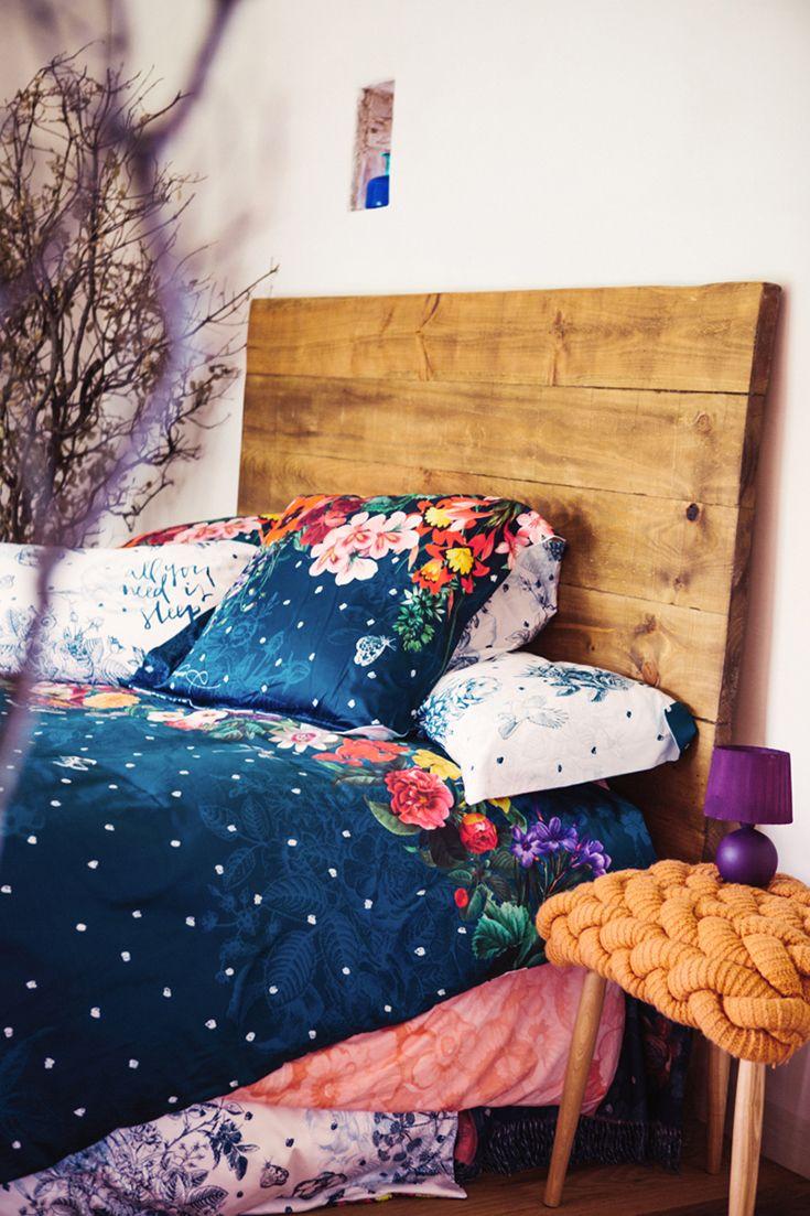 Desigual Reversible Duvet Cover The Light Dark Blue Floral Print