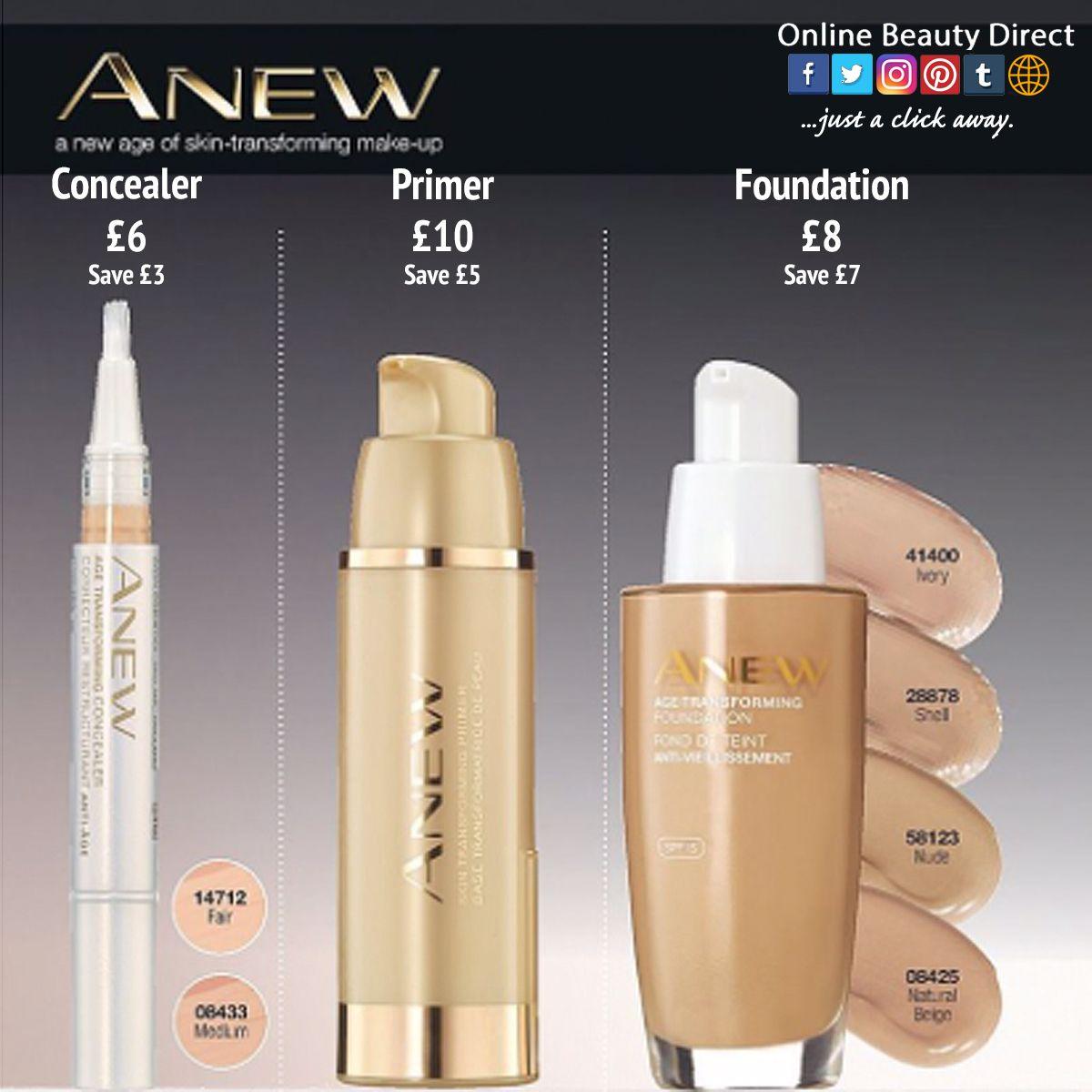 ANEW concealer, primer, foundation Concealer, Natural