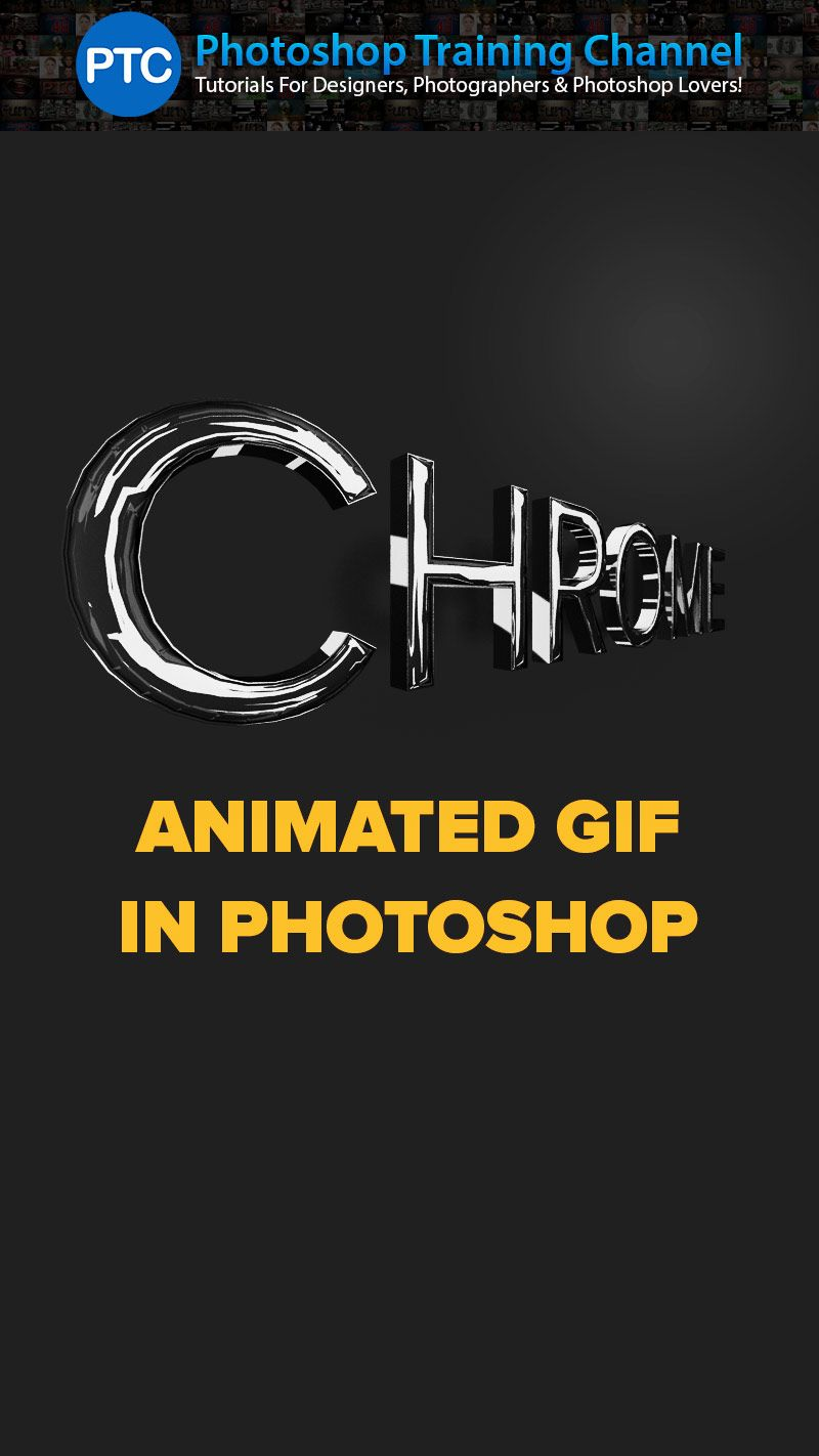 Make A 3d Chrome Text Effect And Turn It Into A Rotating Animated Gif Photoshop Tutorial Photoshop Tutorial Text Photoshop Tutorial Photoshop