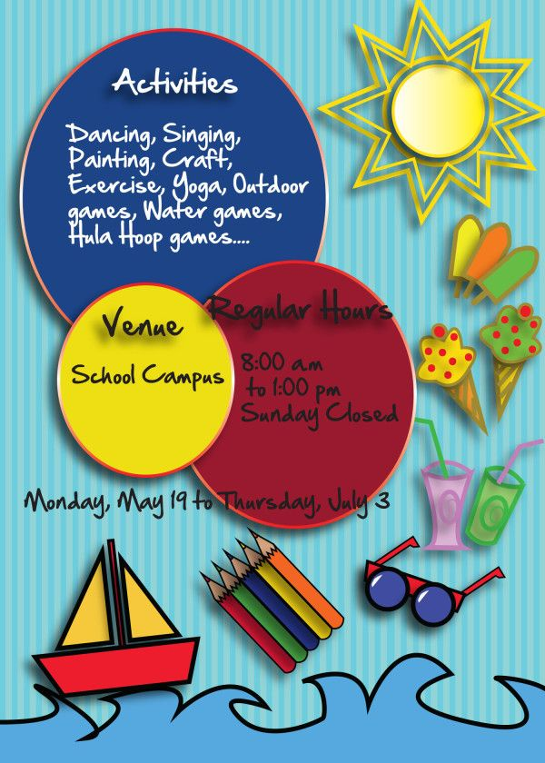 Free Summer Camp Flyer Back Free Flyer Templates Brochure