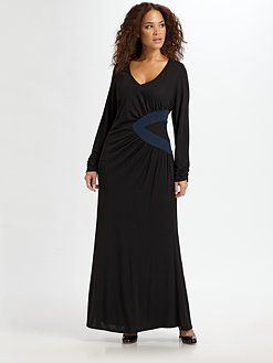 Figure flattering plus size Maxi dress. Saks Fifth Avenue. | That ...