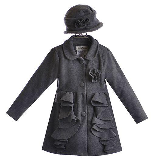 Widgeon Fleece Ruffle Coat for Girls with Hat $62.00