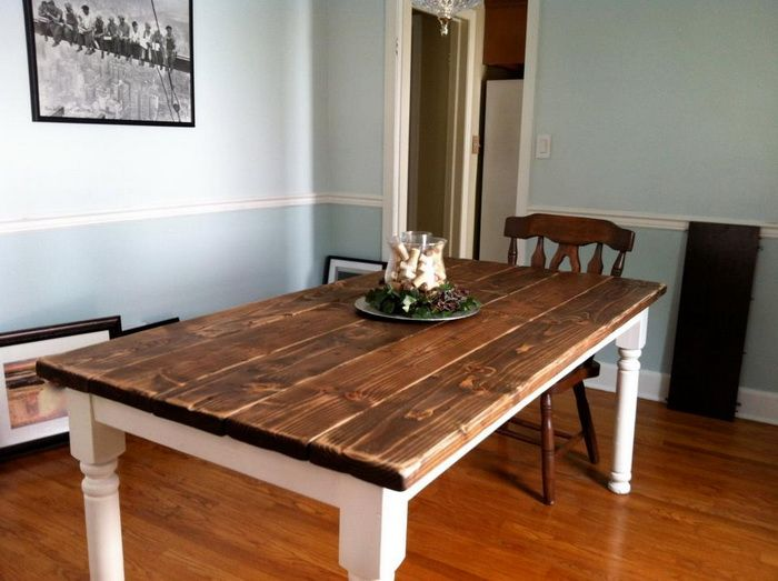 how to build a vintage style dining room table yourself | decor