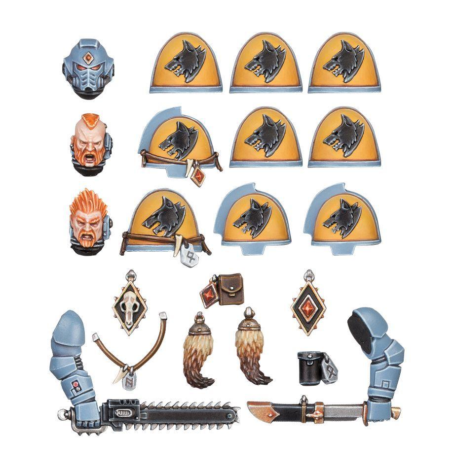 Warhammer 40K Space Marines Space Wolves Primaris Upgrades Helmet