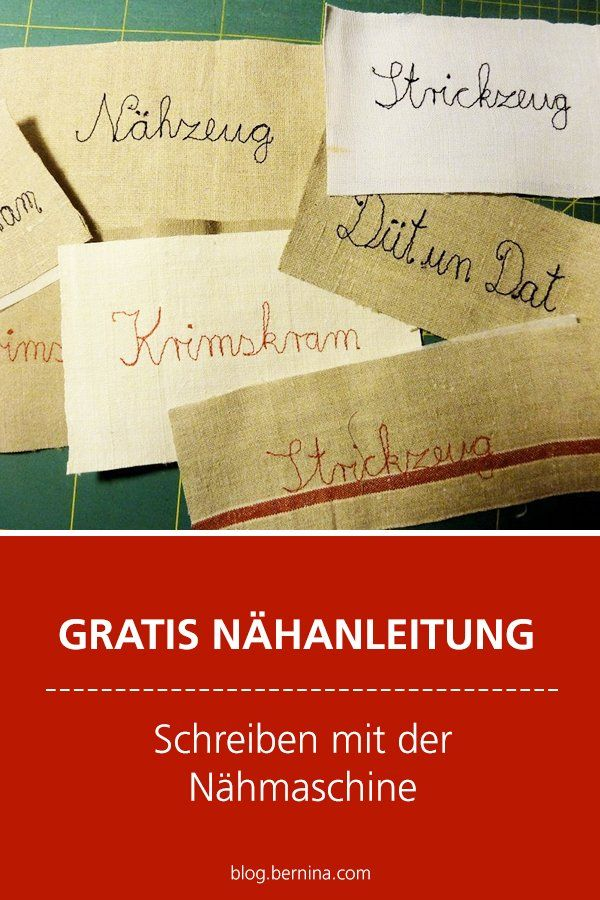 Photo of Kostenlose Nähanleitung: Schreiben lernen mit der Nähmaschine