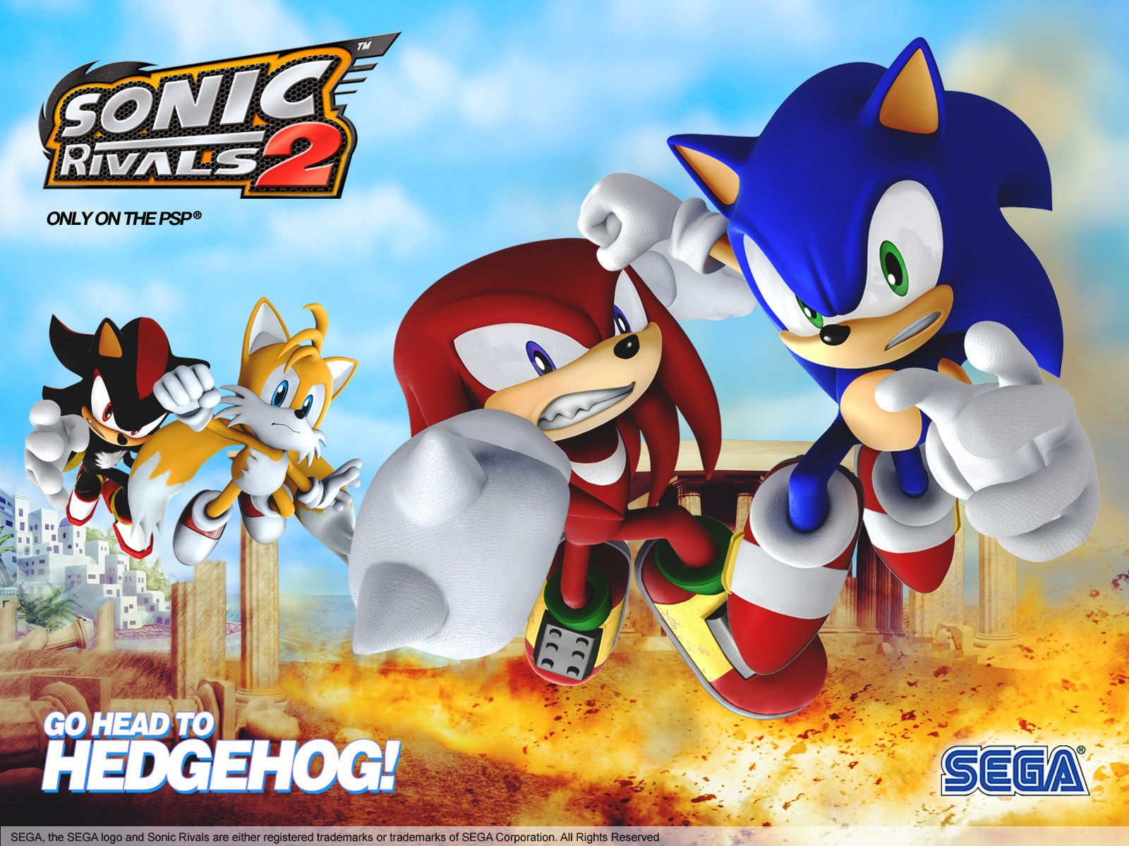 Sonic Rivals 2 Sonic Sonic The Hedgehog Anime Movies