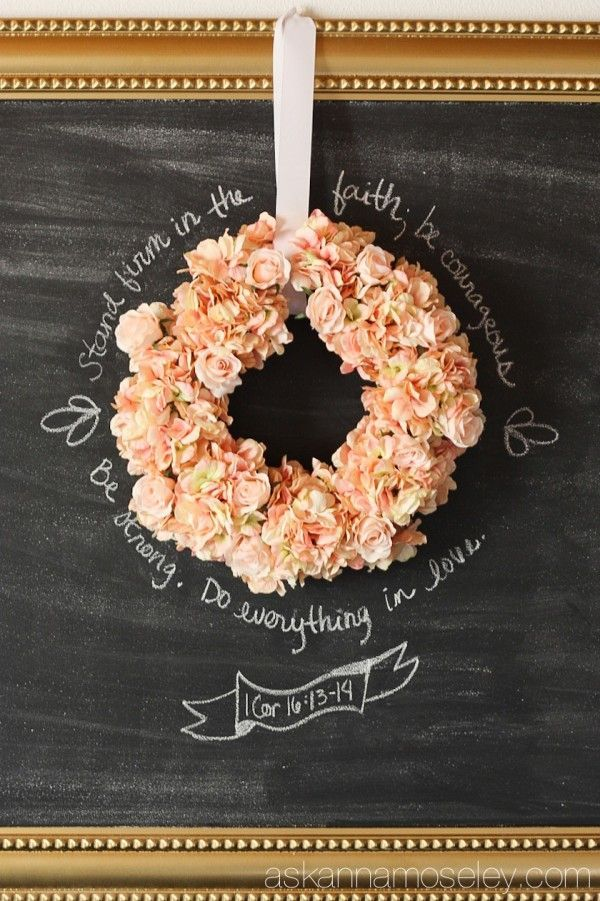 DIY Extra Large Chalkboard - Ask Anna | decorate :: wreaths ...
