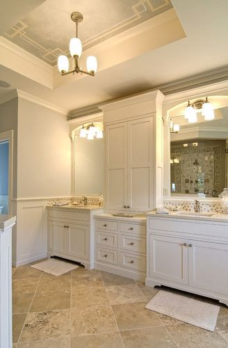 Shaker Cabinets And Travertine Floor Love The Detailing On The