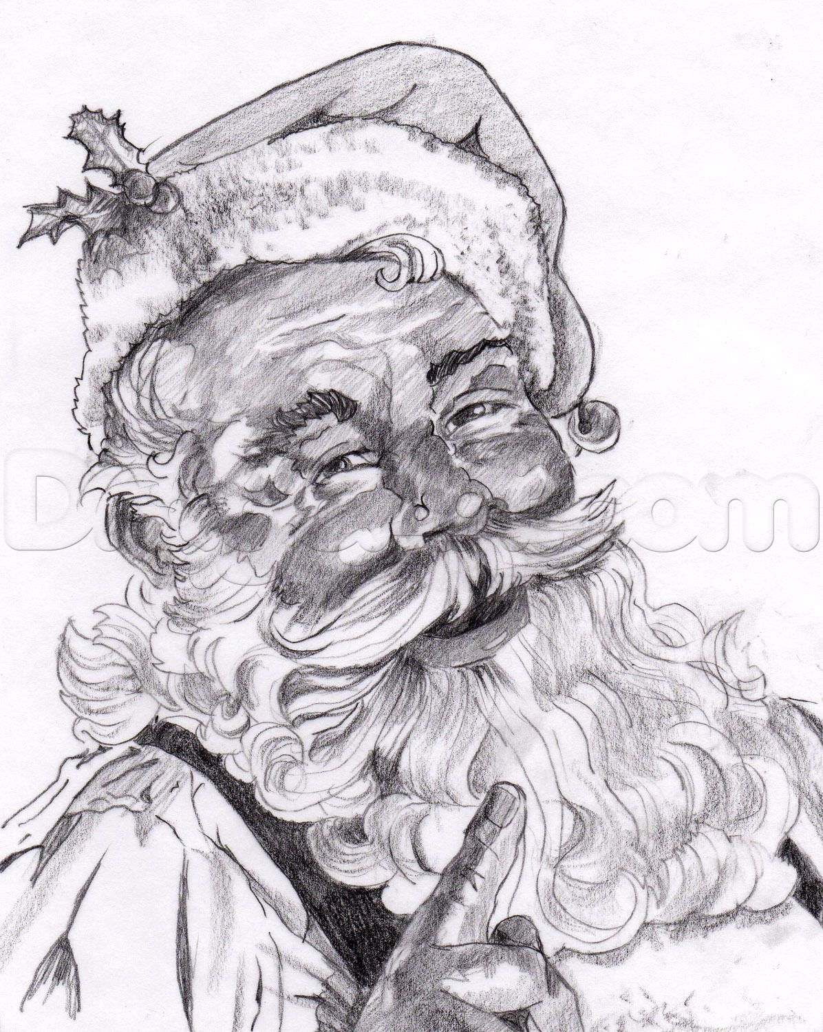 how to draw a realistic santa santa claus step by step christmas stuff seasonal free online drawing santa paintings christmas drawing santa claus drawing christmas drawing santa claus drawing