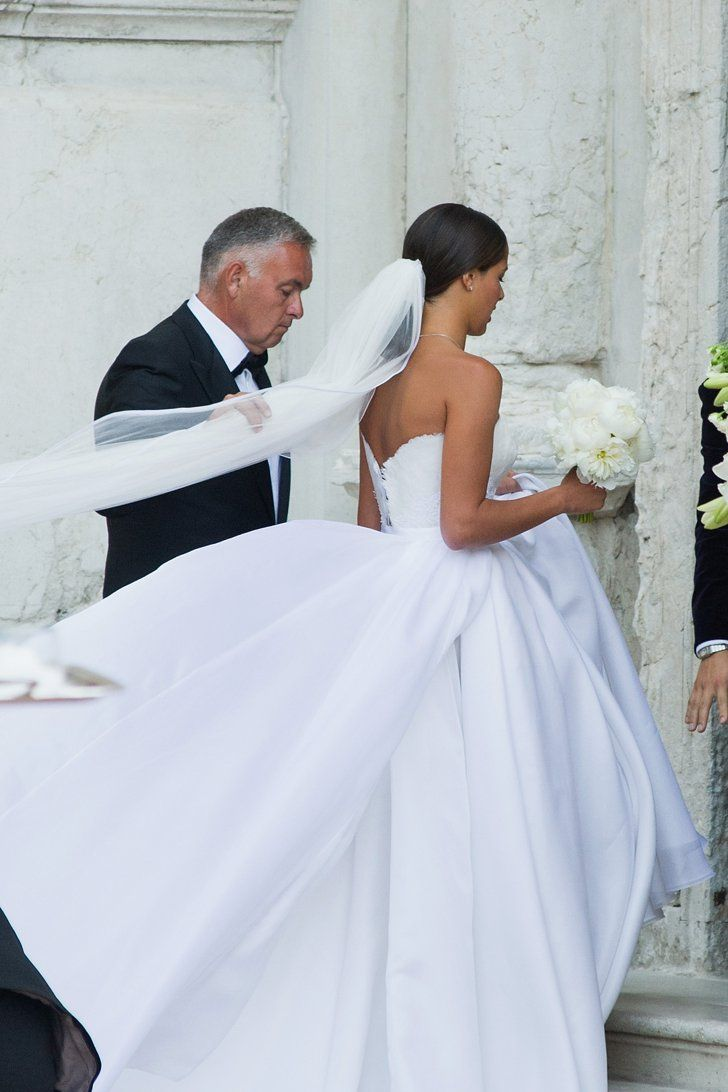 Fashion Shopping Style Ana Ivanovic S Second Wedding Dress Was Even More Breathtaking Than Her First Famous Wedding Dresses Celebrity Wedding Photos Second Wedding Dresses