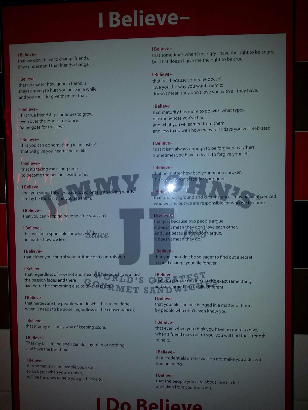 jimmy john's quote sign. awesome! | stress relief | pinterest