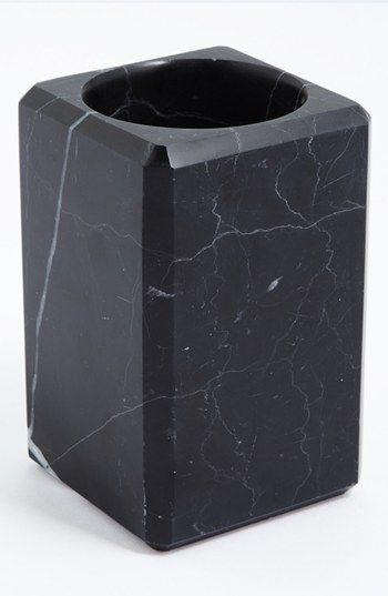 Waterworks studio 39 luna 39 black marble tumbler online only - Black marble bathroom accessories ...