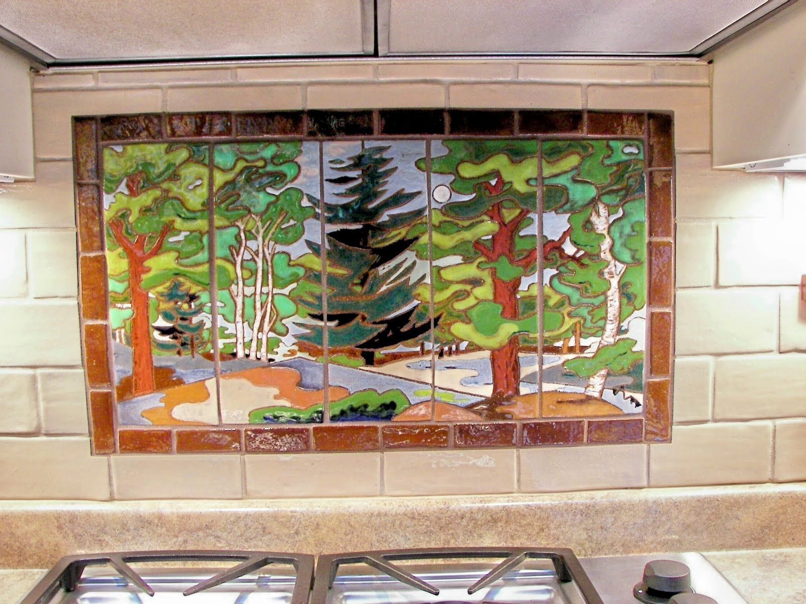 Groovy Arts And Crafts Tile Backsplash Backsplash Installed Into Download Free Architecture Designs Grimeyleaguecom