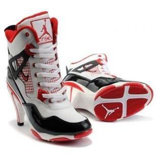 Air Jordan 4 White/Red/Black Heels