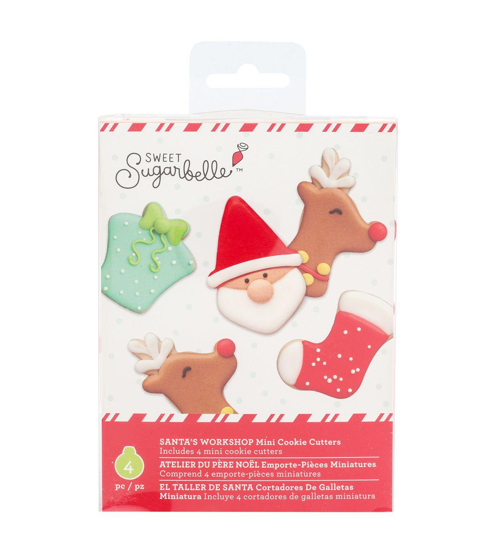 Sweet Sugarbelle Christmas Mini Cookie Cutter Set Santa S Workshop