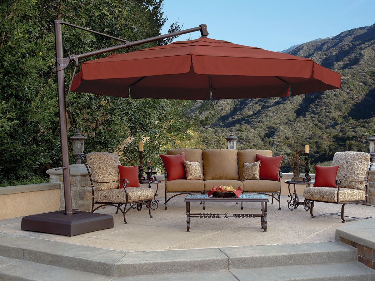 Beautiful 13u0027 Octagon Cantilever Umbrella   With Valence AKZ13 X DWV V