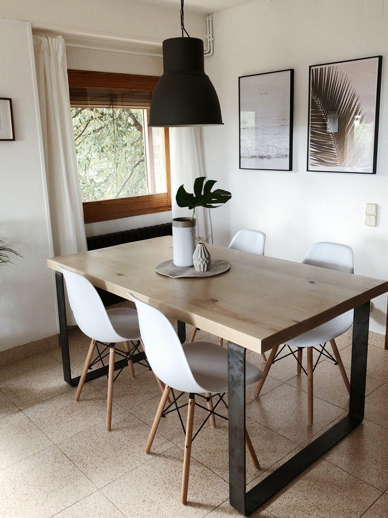 Mesa comedor Dabir (Pino - tablones) | Pinterest | Pino, Bancos y ...