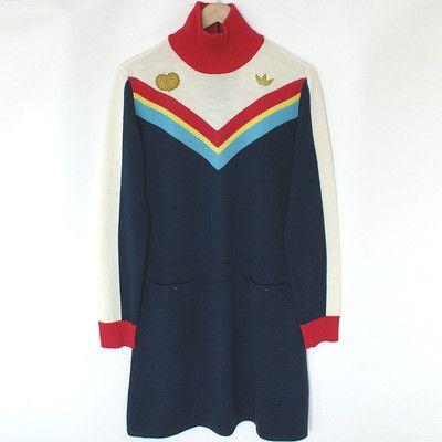 Vintage Original Adidas Tennis Sweater Dress Vintage Adidas Tennis Sweaterdress Chevron Tennis Dress Fashion Tennis Dress Vintage Outfits