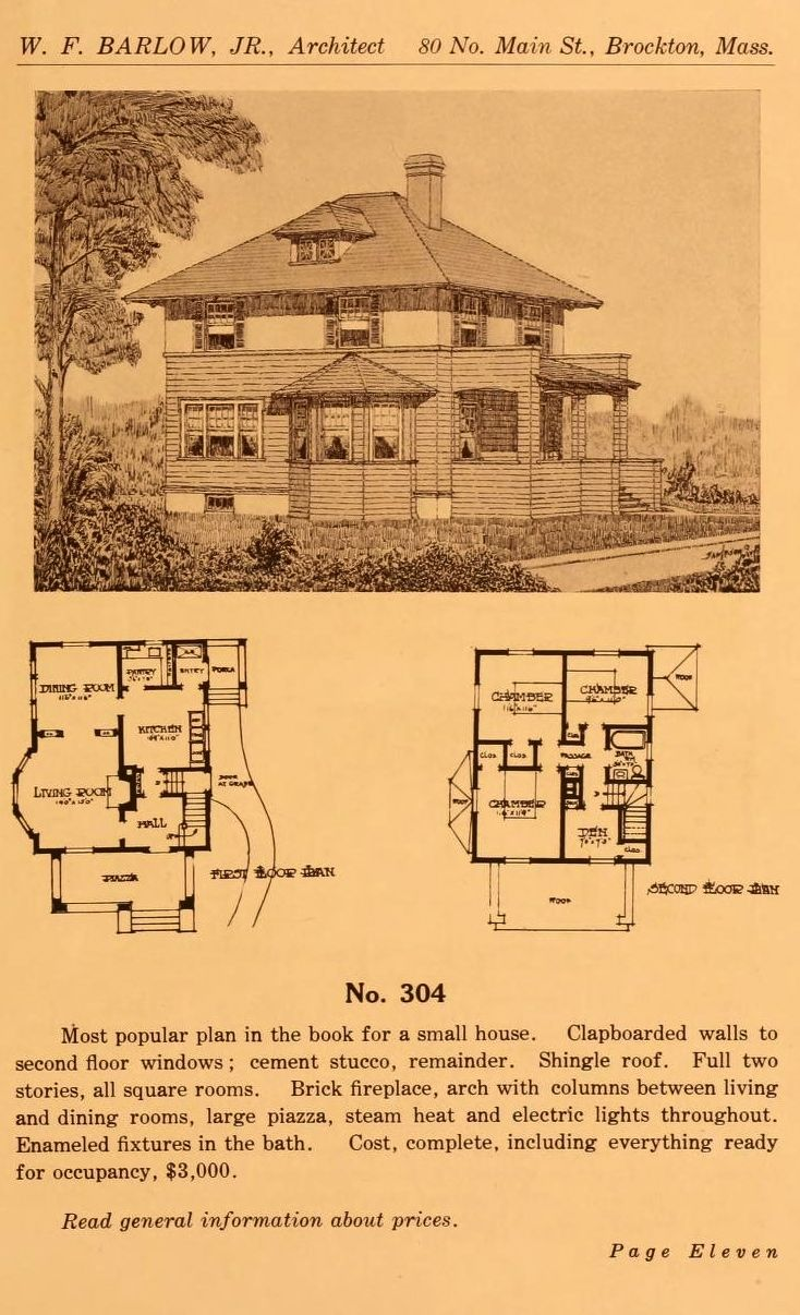 Ideal Homes, 1913  Wm F  Barlow, Architect  From the