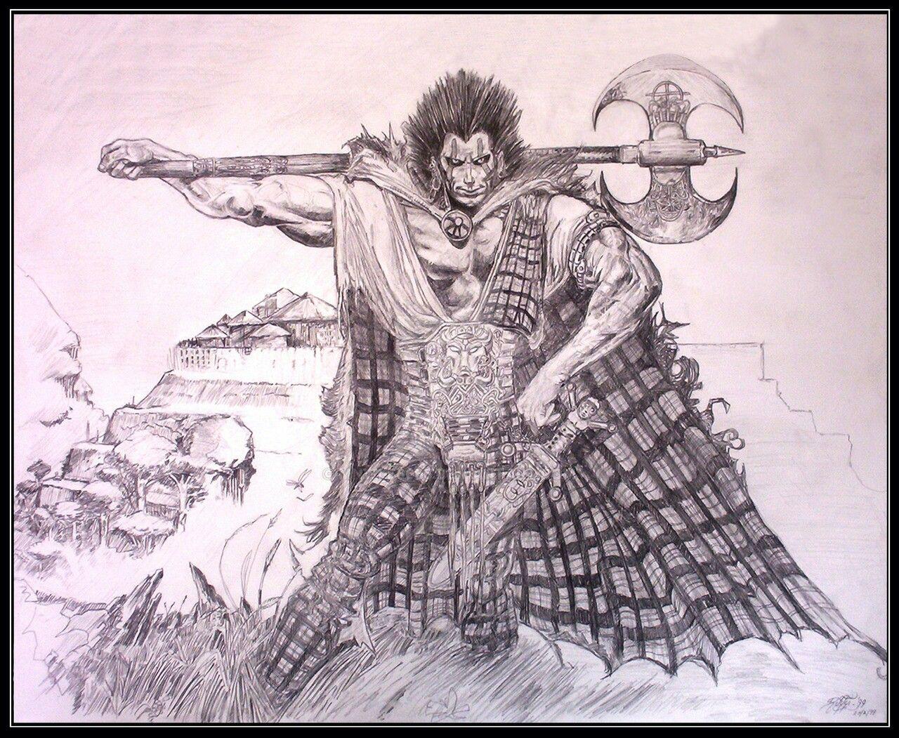 Fan 2000 Ad Image By Paul Sunderland Celtic Warriors Celtic Warrior Tattoos Art