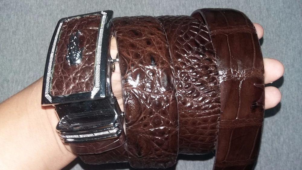 NoJointed # Men/'s Belt Genuine Crocodile Alligator Skin Leather Belt Handmade
