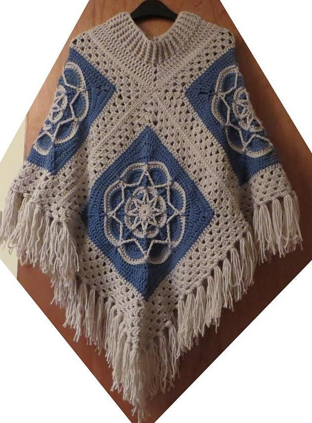 Ravelry: 4 Square Poncho pattern by Helen Shrimpton | Projects to ...