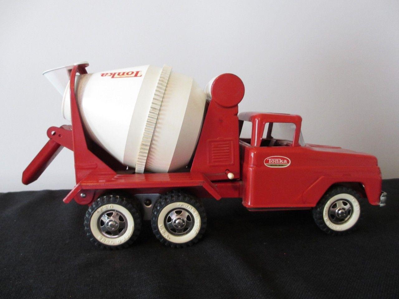 vintage tonka concrete cement mixer delivery toy truck tonka