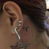 Photo of #aries tattoo #dem #hinter #Ohr #sternzeichen #symbol