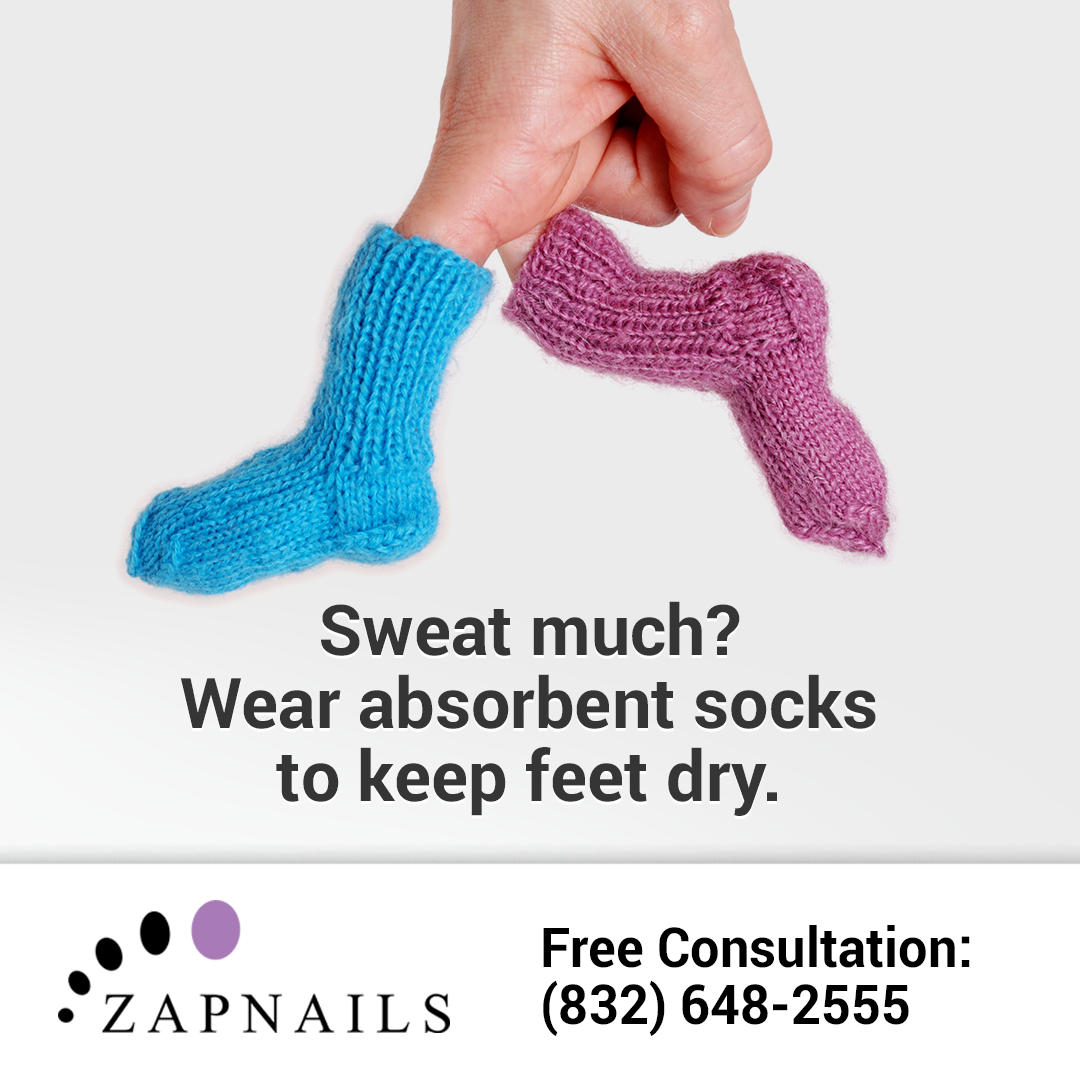 Fungus loves moisture...even in the winter, when we wear heavier shoes and boots. Make sure your socks wick that moisture away! Need treatment? Call (832) 648-2555 • http://zapnails.com