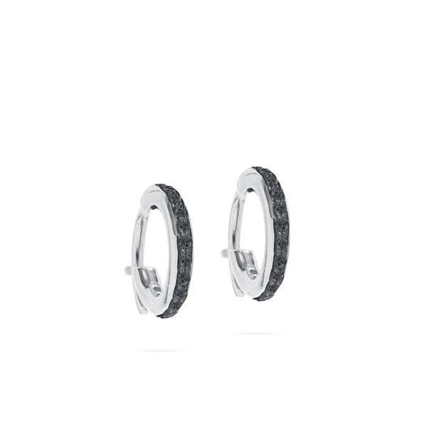 7e3c372a6 ADINA REYTER Pave Huggie Hoops in Silver with Black Diamonds | New ...