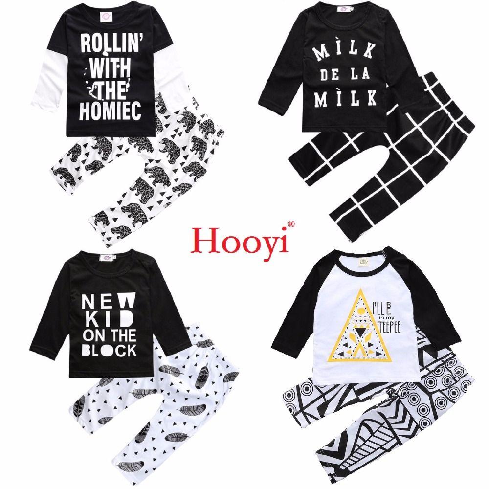 5b277c3bdb420 Hooyi 2018 Spring Baby Boys Clothes Suits 2-Pieces Sets Cotton ...