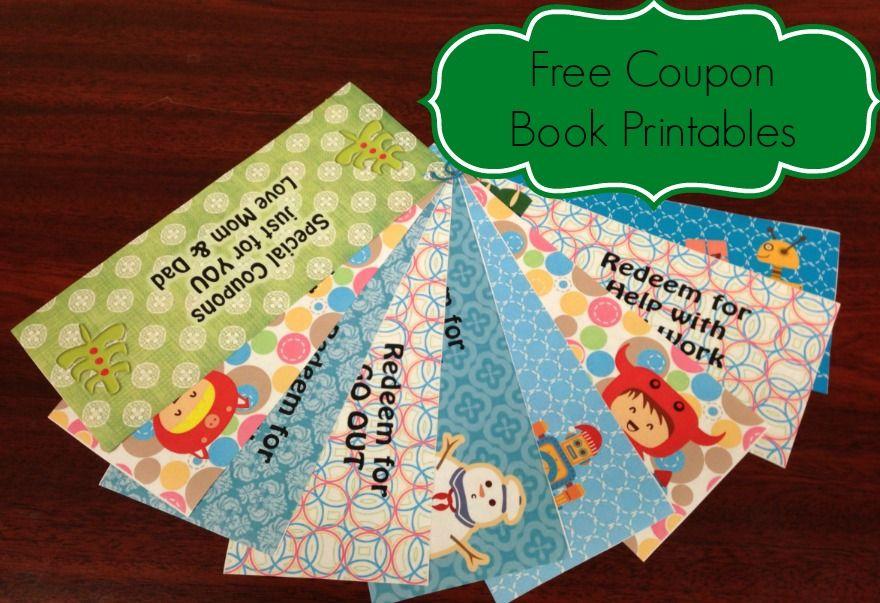 Free coupon book printables christmas coupons coupon