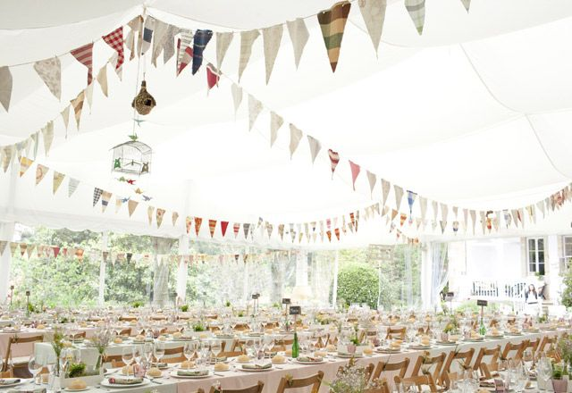 Ideas para Decorar con Banderines - Diario de una Novia Bodas and