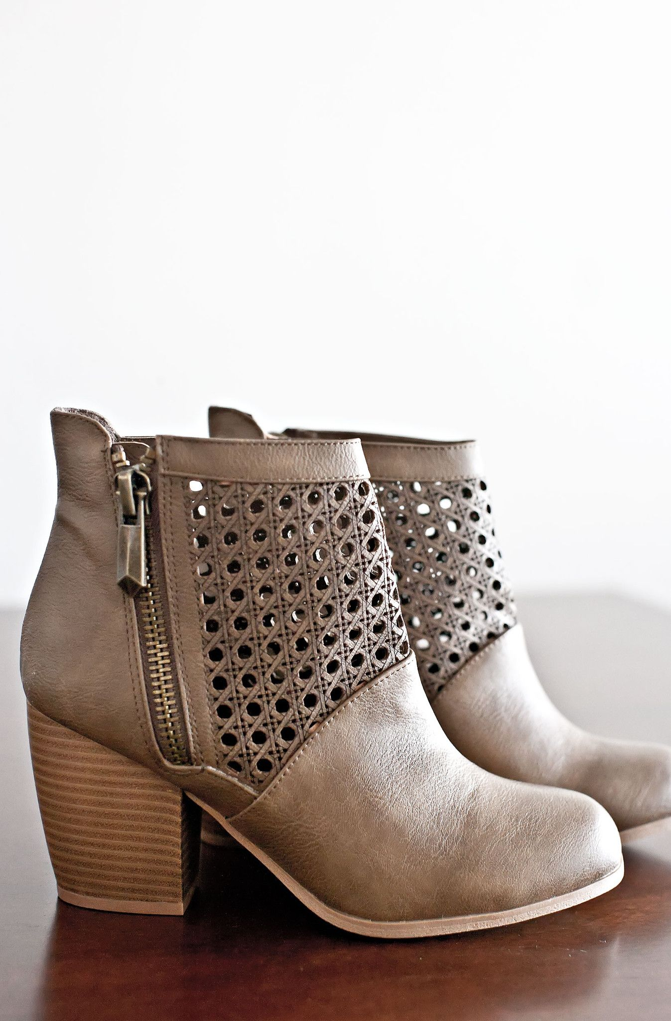 Emerson Ankle Booties-Taupe