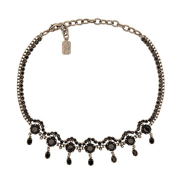 Lionette by Noa Sade Swarovski Crystal Lecce Choker in Black fQXCabsc