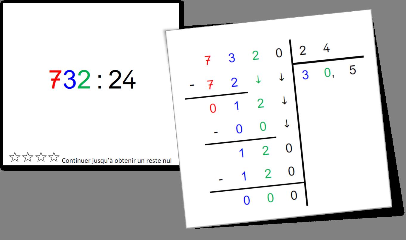 Montessori : poser les divisions | Division posée ...