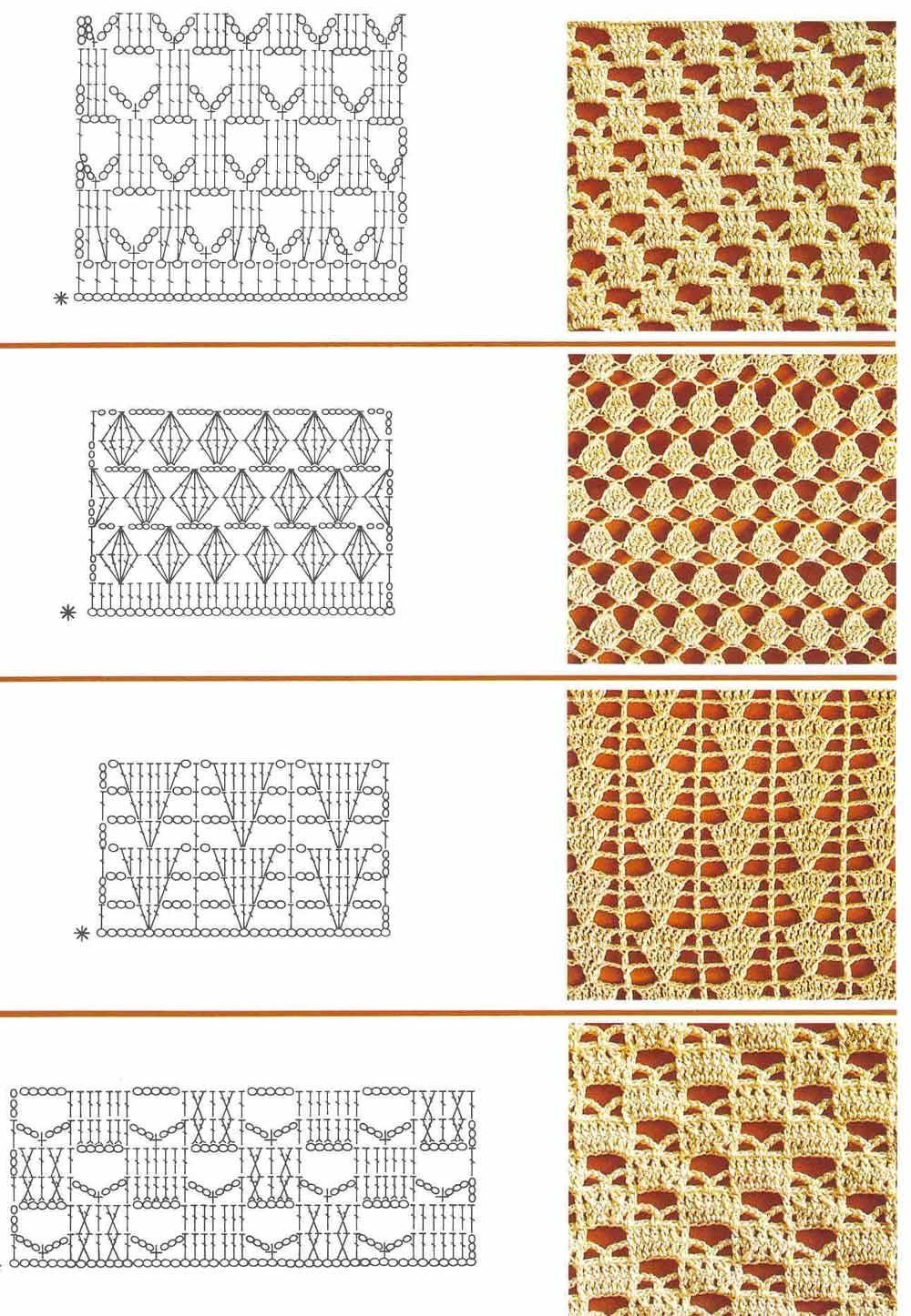 Узоры крючком со схемами и картинками