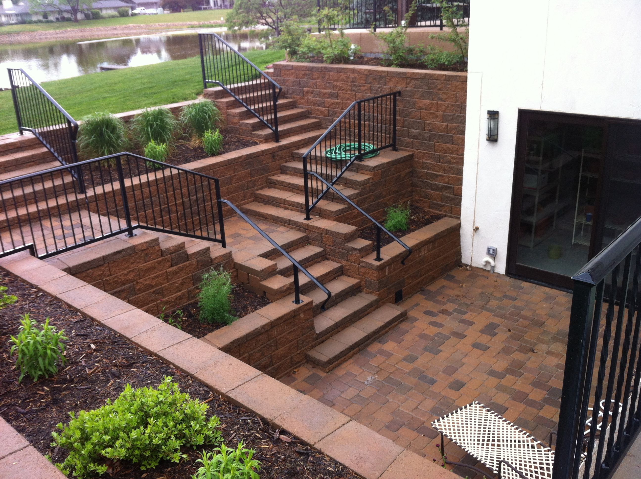 Summit Lawn And Landscape Fort Collins Walkout Bat With Versa Lok Block System