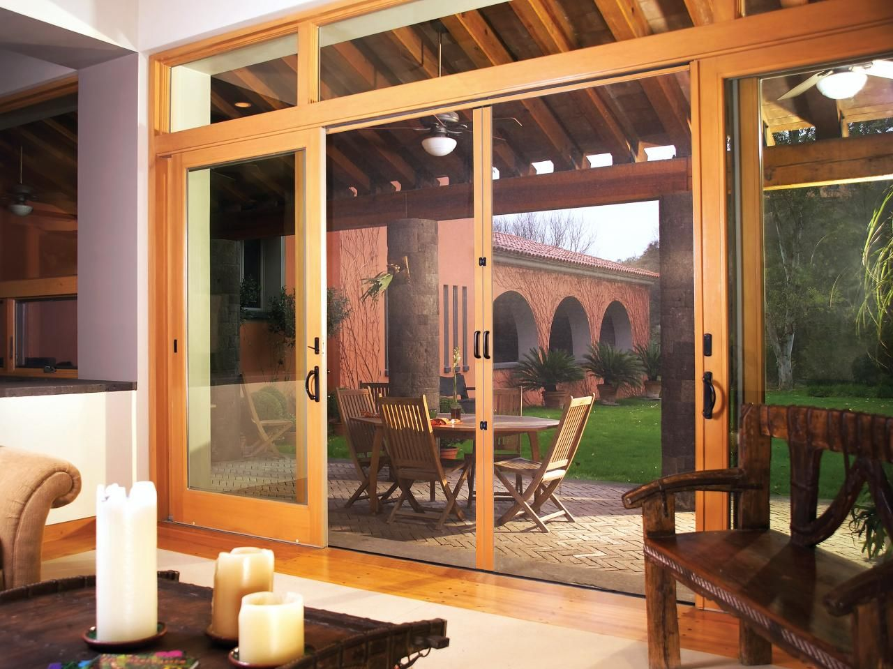 Center Opening Sliding Glass Patio Doors With Screen   Google Search