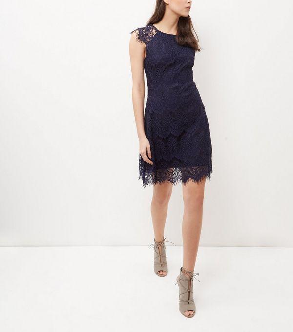 45 - AX Paris - Robe bleu marine en crochet   New Look   Women s ... 18f8ce18b0ed