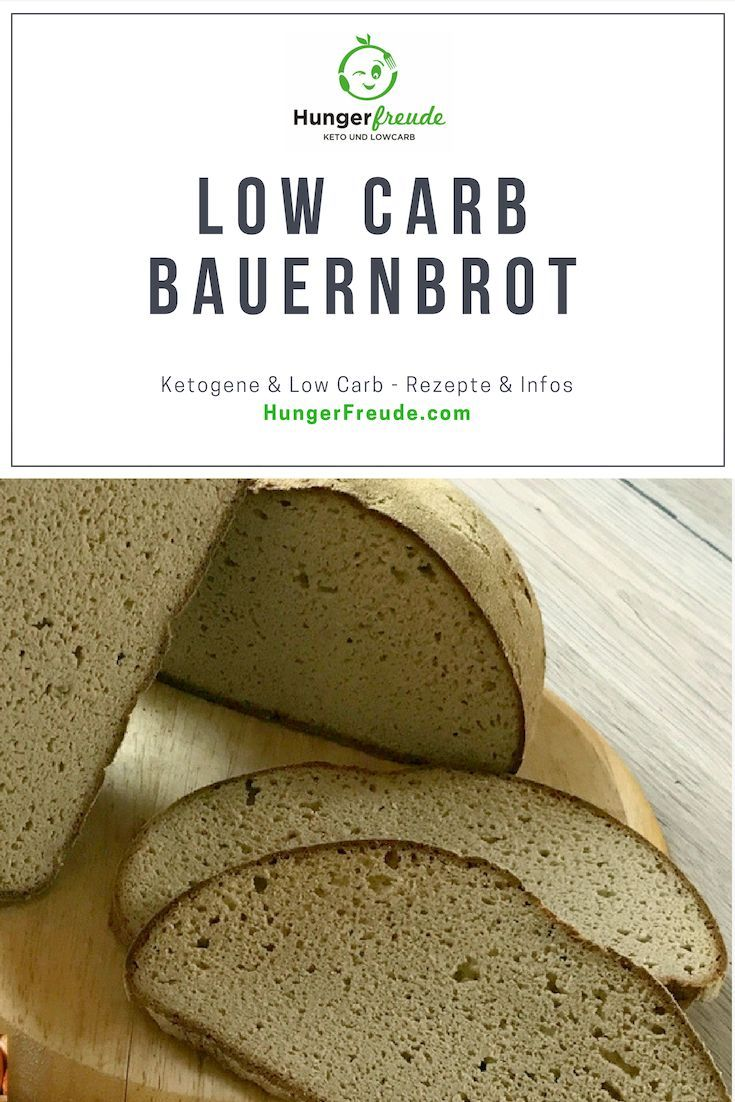 Unser Feines: LowCarb Bauernbrot mit Hefe - HungerFreude - Ketogene & Low Carb Rezepte