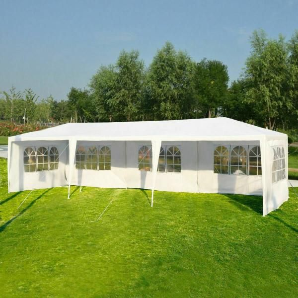 Casainc 10 Ft X 30 Ft White Outdoor Canopy Tent With Side Walls In 2020 Canopy Tent Outdoor Canopy Tent Canopy Outdoor