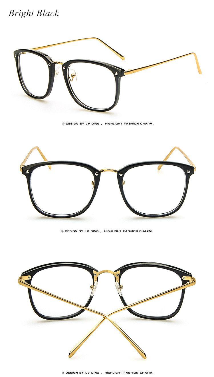 c9ab5a1cb6b 2017 Brand Vintage Optics Eyeglasses Frame Women Fresh Spectacle Frame  Women Prescription Eyewear Trend Men Retro Clear Glasses Just look