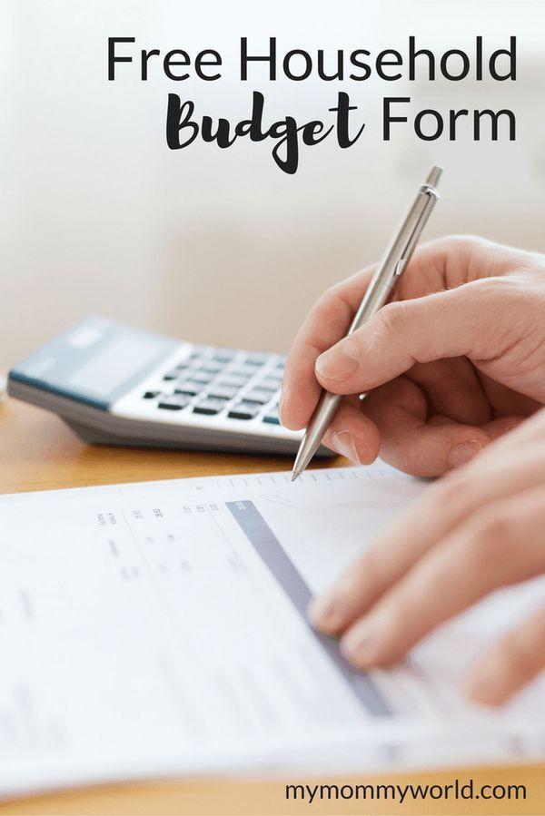 Free Household Budget Form  Printable Budget Planner Printable